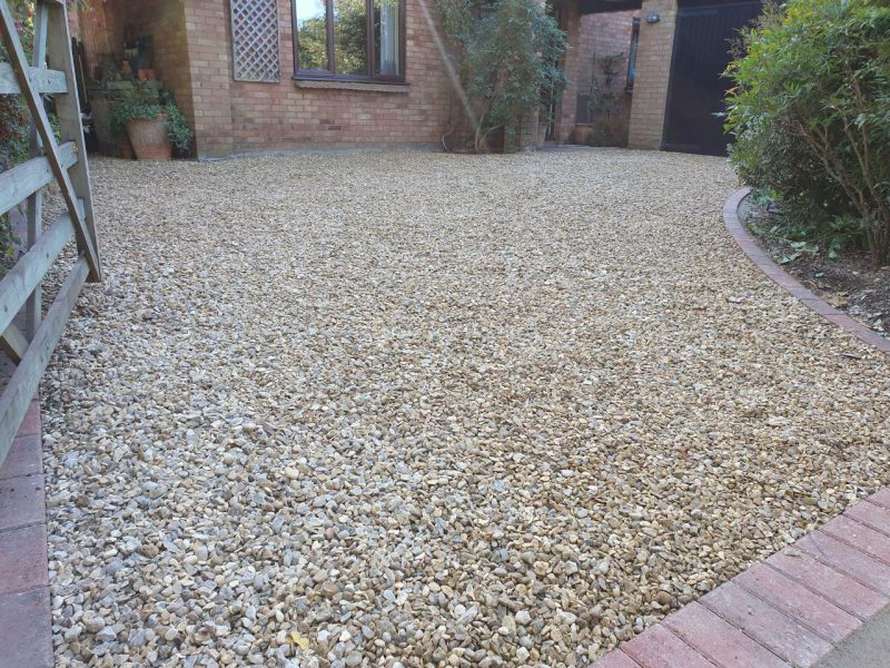 New Driveway With 20mm Cotswold Gravel in Milton Keynes