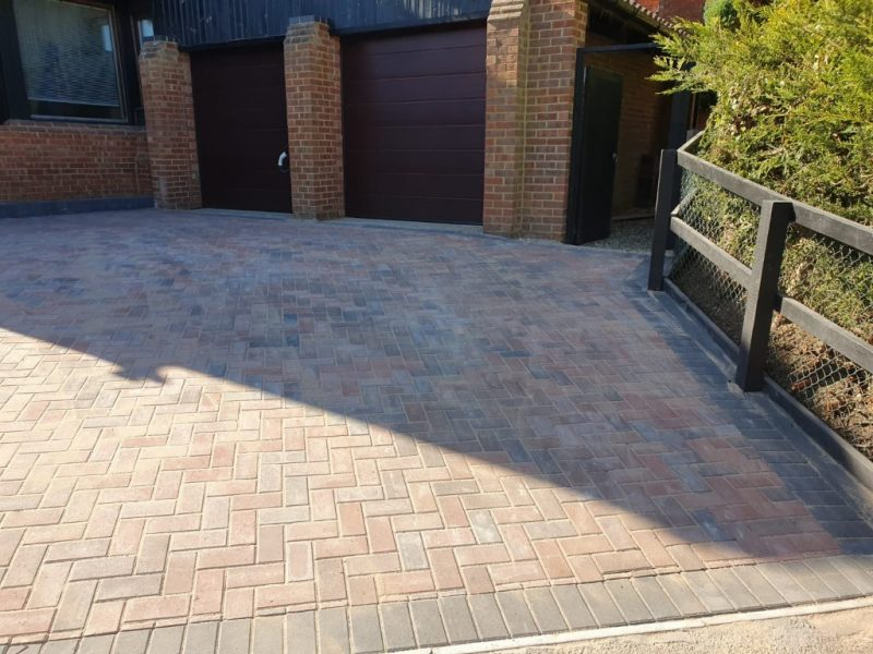 Block Paving Driveway with a Tree Removal in Milton Keynes